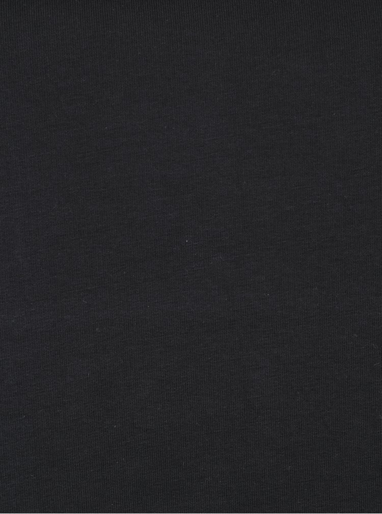 Černá mikina s vázáním v dekoltu Ulla Popken