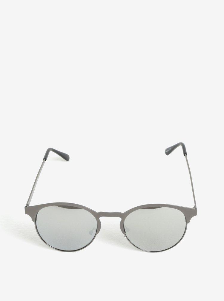 Šedé sluneční kulaté brýle Selected Homme Sunday