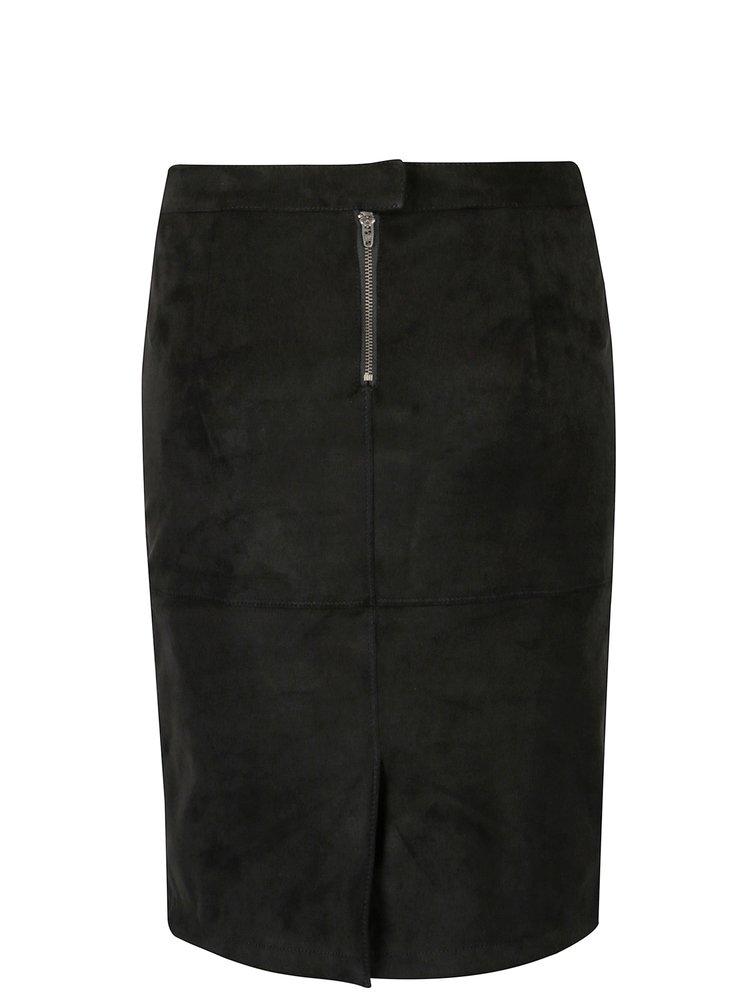 Černá sukně v semišové úpravě VILA Pen