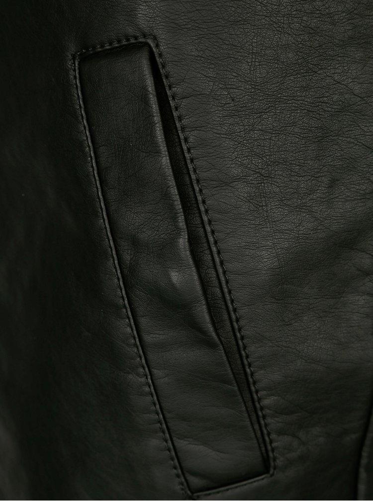 Černá koženková mini sukně Jacqueline de Yong Bounty