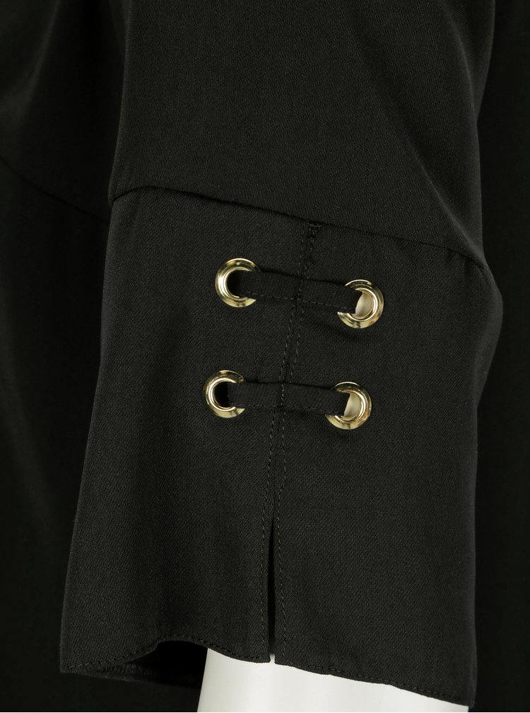 Rochie neagra cu detaliu metalic pe maneci Dorothy Perkins Curve