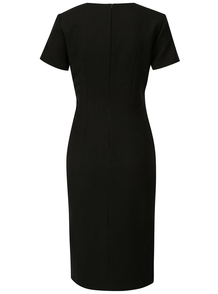Černé pouzdrové šaty NISSA