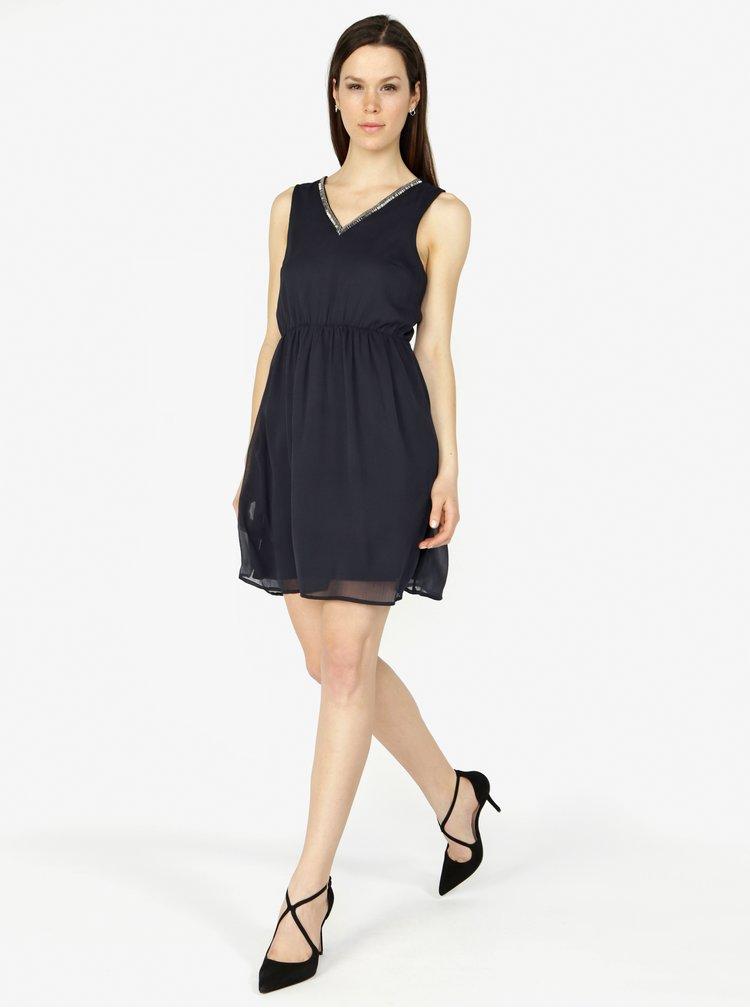 Tmavě modré šaty VERO MODA Liandra