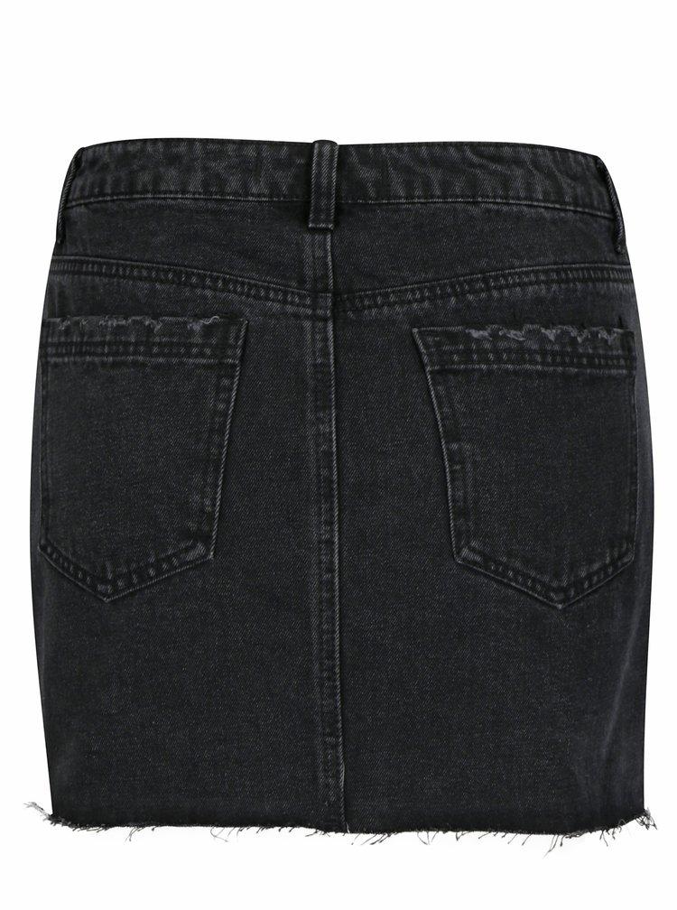Černá džínová sukně TALLY WEiJL