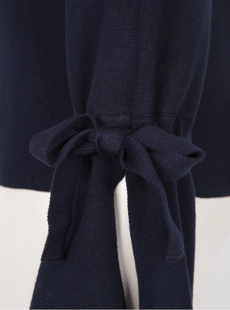 Tmavě modrý svetr se zvonovými rukávy VERO MODA Montauge