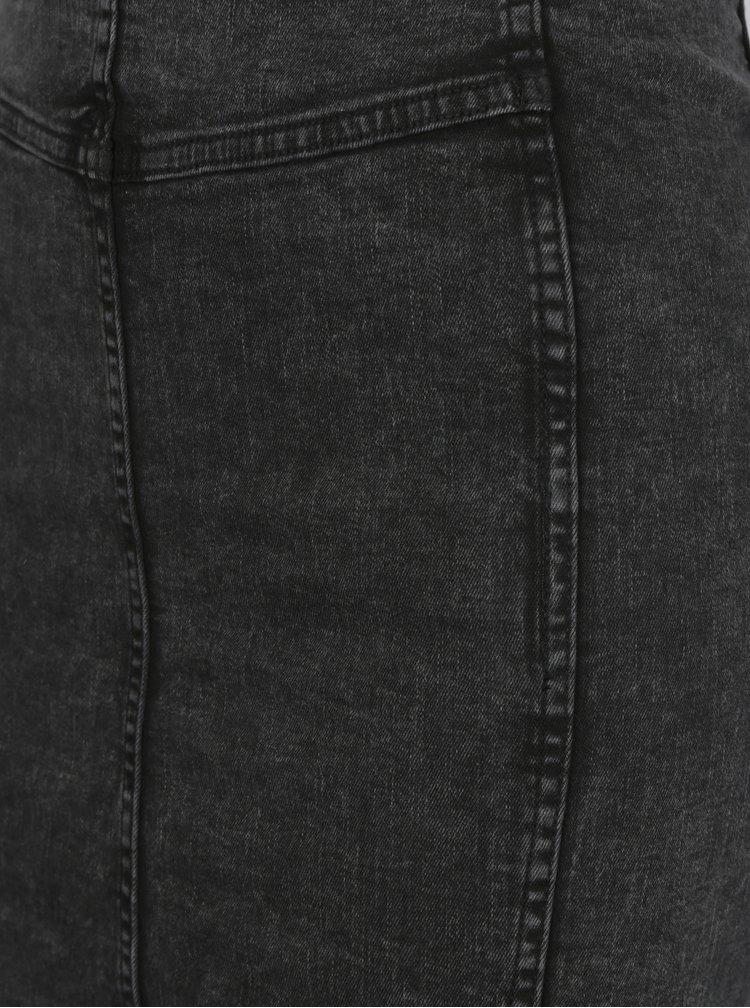 Tmavě šedá džínová sukně s rozparkem Blendshe Play