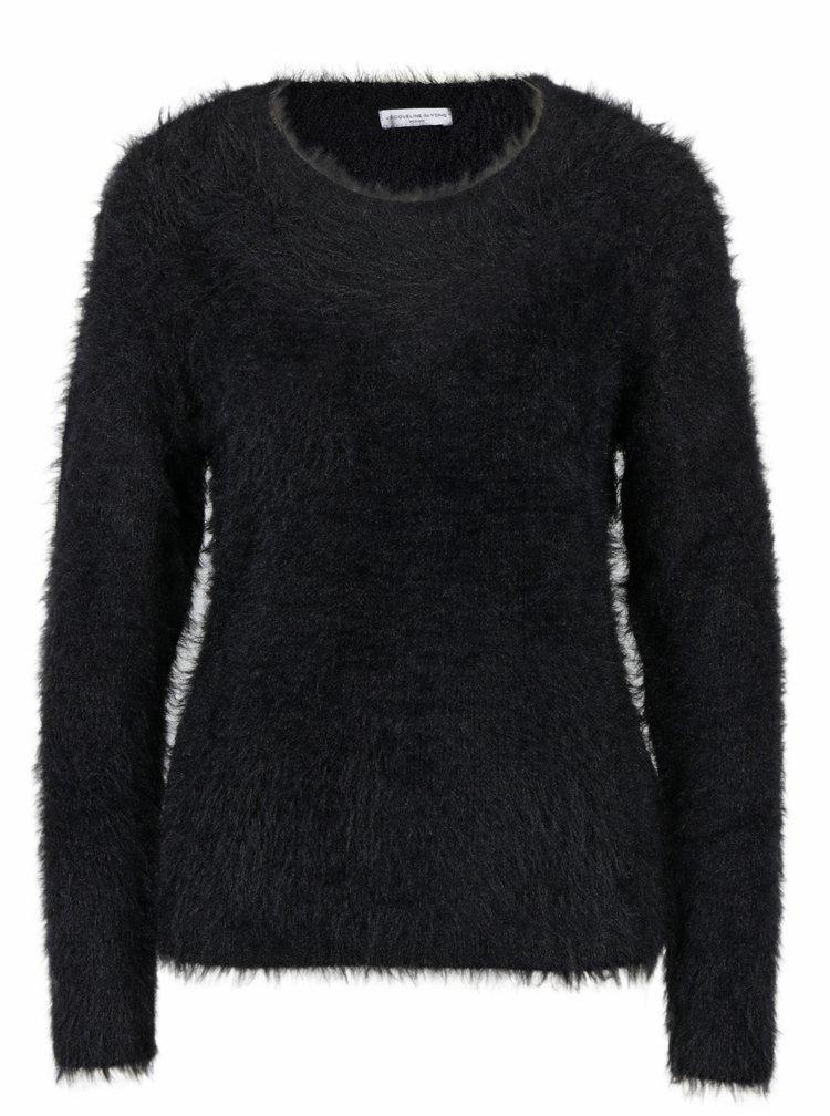 Černý chlupatý svetr Jacqueline de Yong Kane