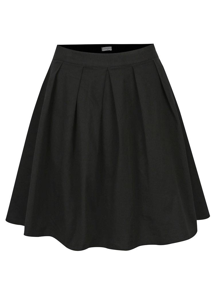 Černá skládaná sukně Jacqueline de Yong Power
