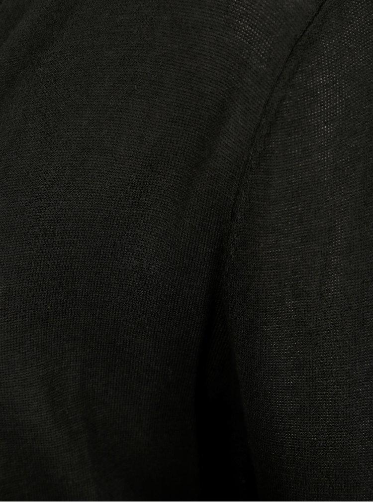 Černý bambusový kardigan s dlouhým rukávem Yest