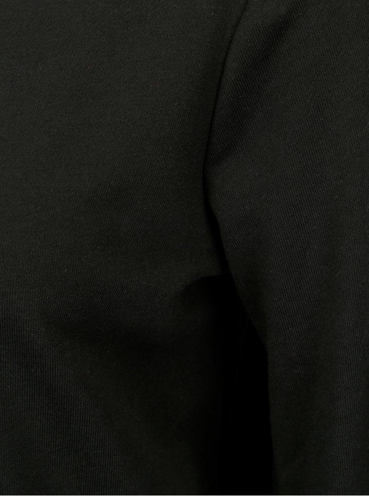 Čierna mikina s pruhmi na chrbte Jacqueline de Yong Celinda