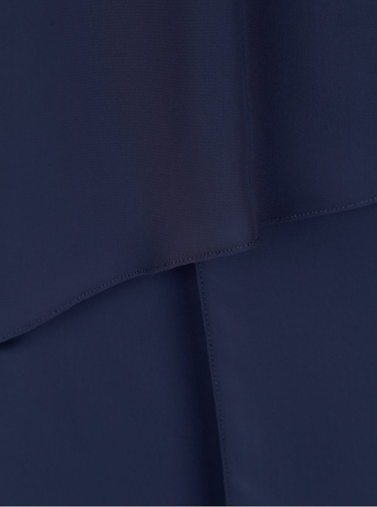 Tmavomodré šaty s korálkovou aplikáciou Billie & Blossom