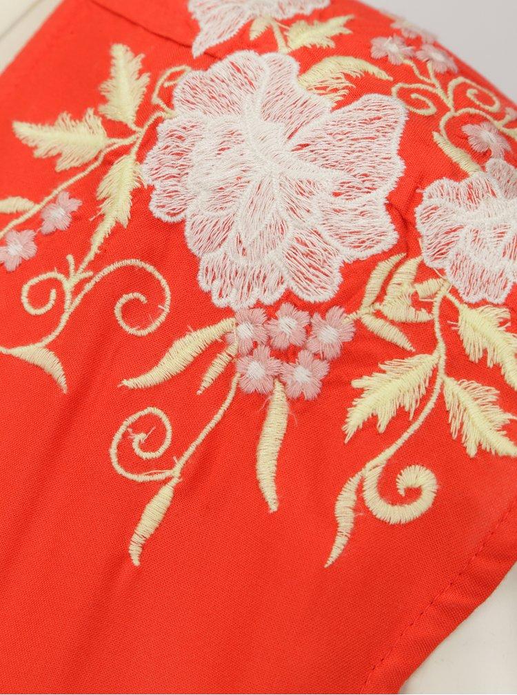 Červená halenka s výšivkou VERO MODA Evy