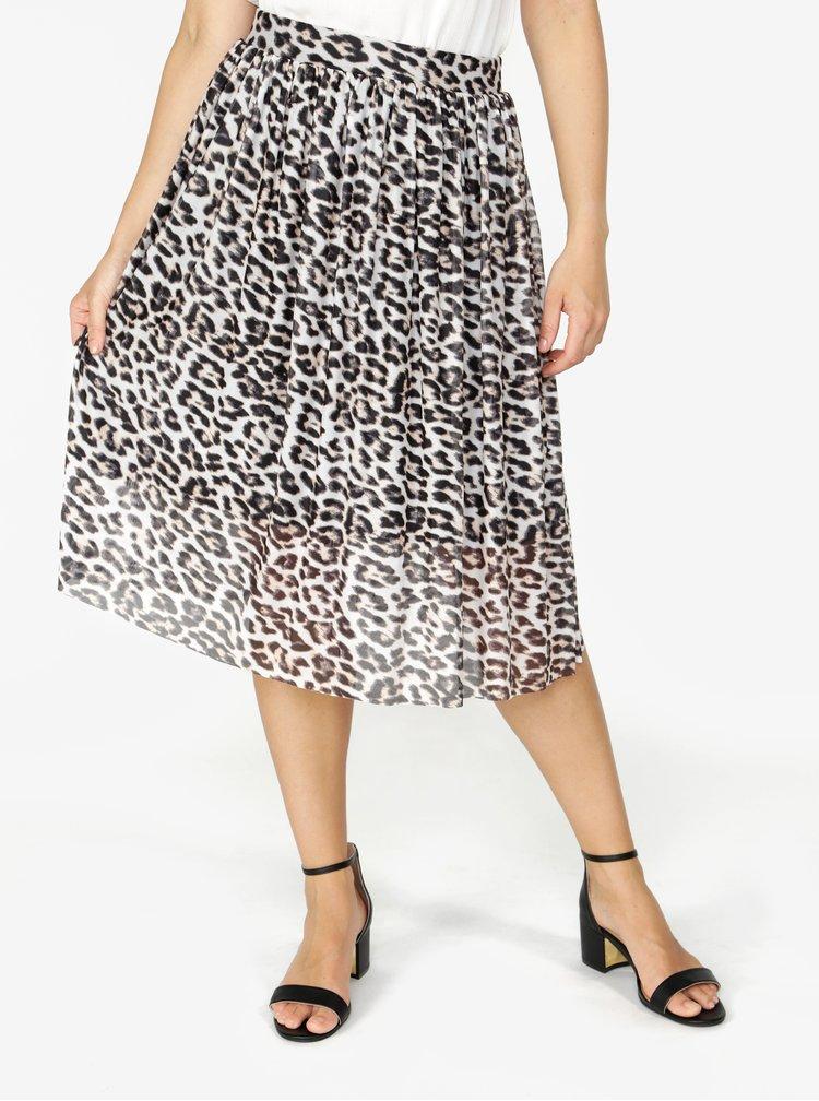Černo-krémová vzorovaná sukně VERO MODA Tina