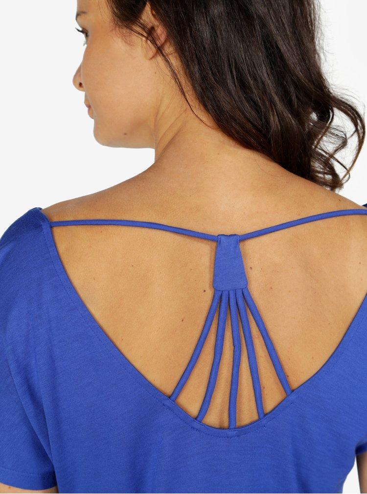 Modré tričko s ozdobnými pásky na zádech ONLY Carrie