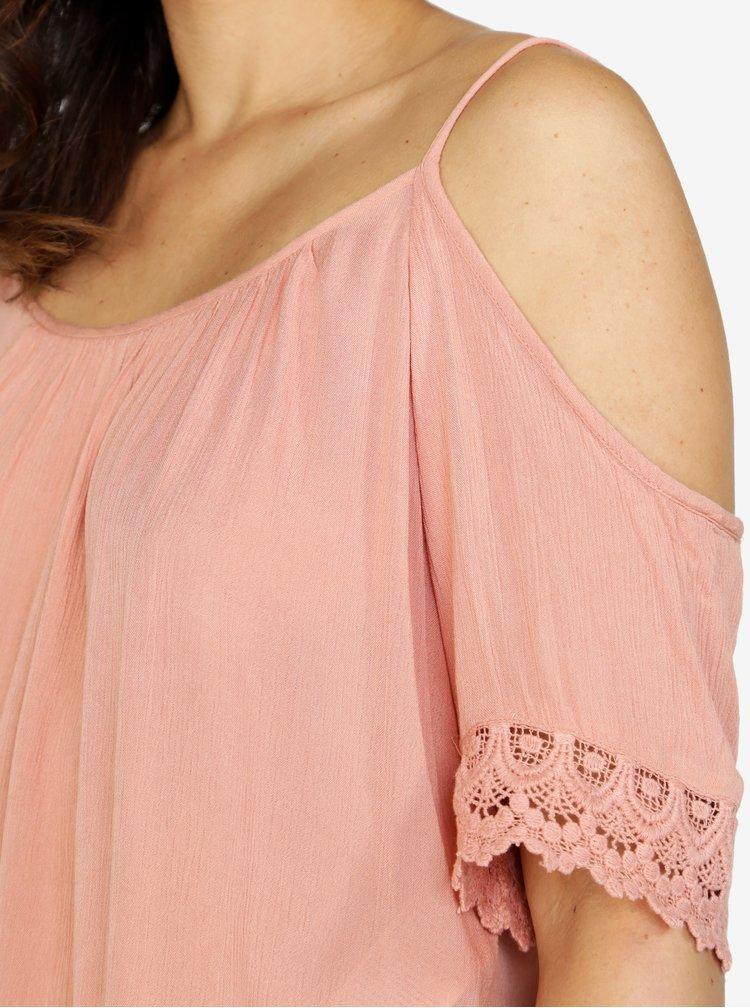 Růžový top s krajkovými detaily ONLY Miami