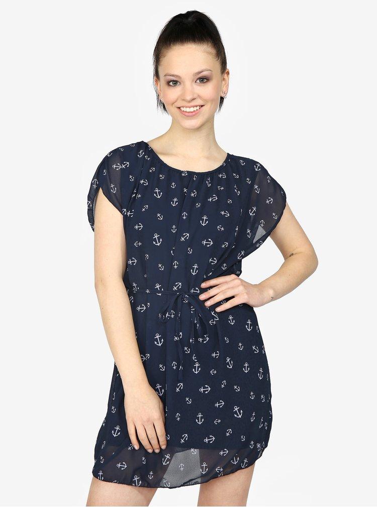 Tmavě modré šaty s potiskem Haily's Anne