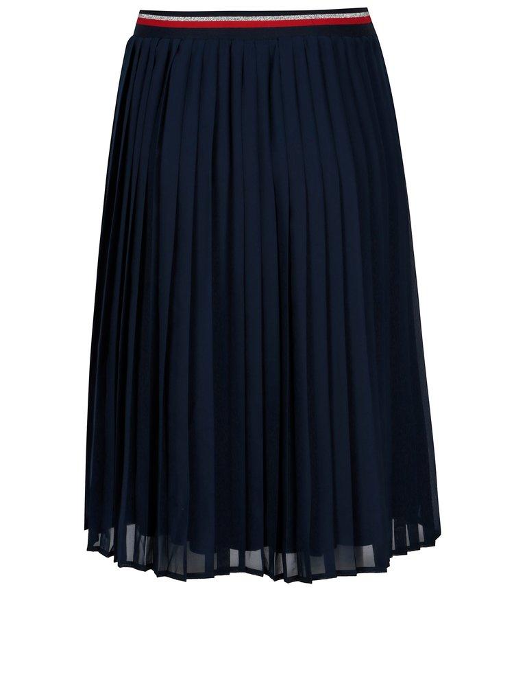 Tmavě modrá dámská plisovaná sukně Broadway Allie