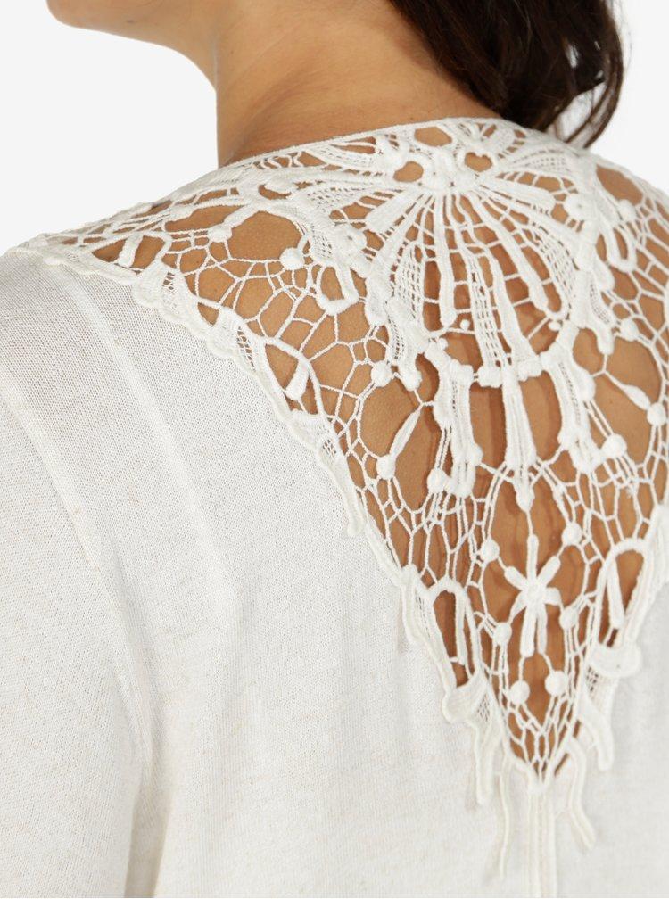 Krémový kardigan s krajkovými detaily ONLY Marna