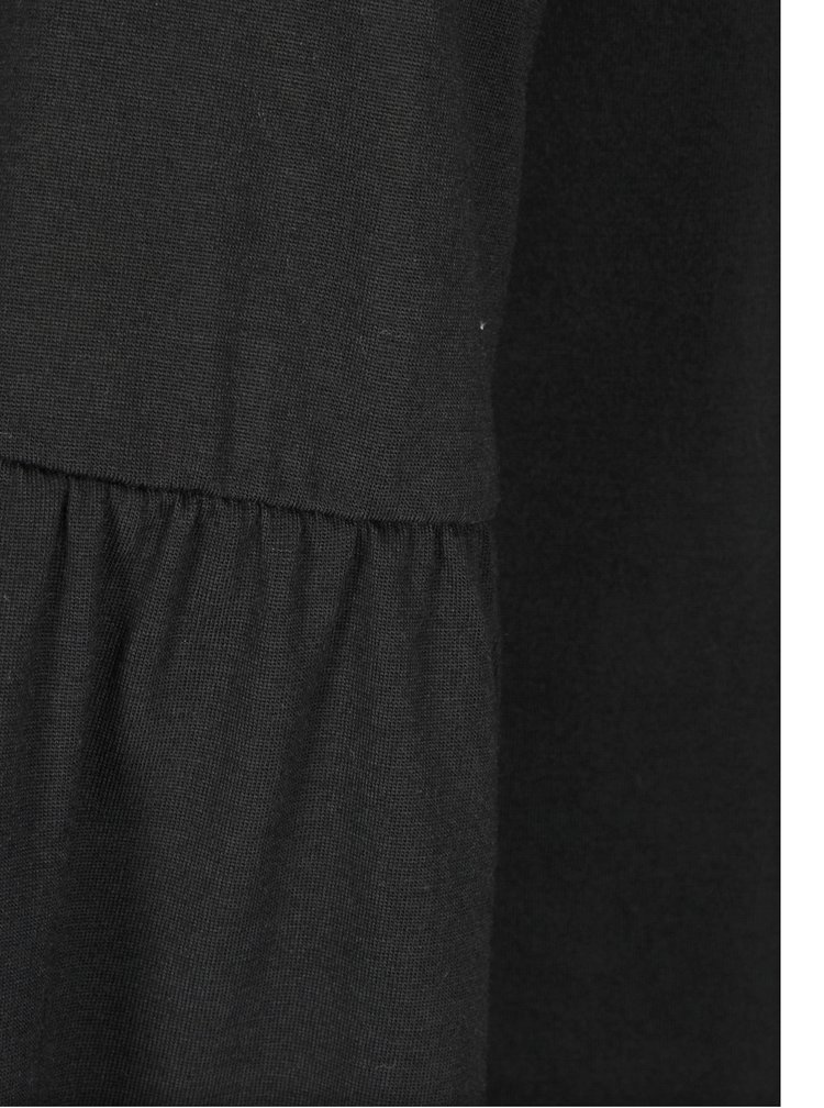 Černé tričko se zvonovými rukávy Jacqueline de Yong Minni