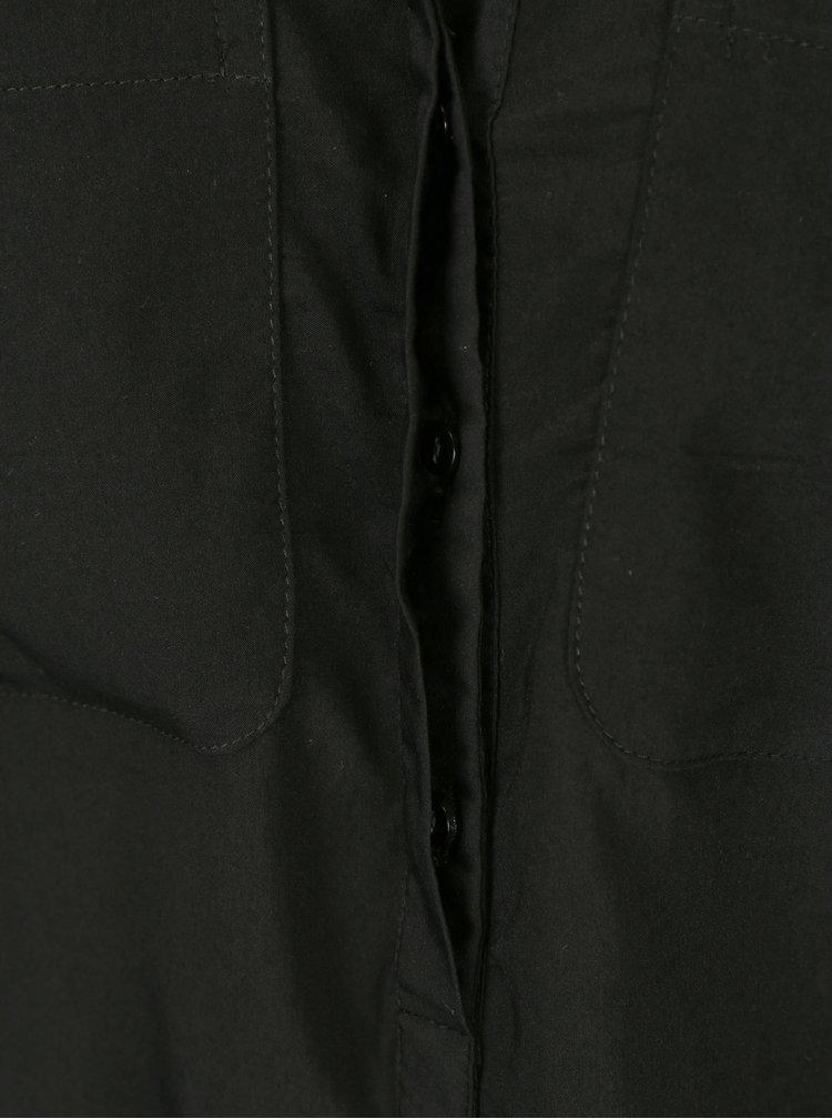 Černá průsvitná halenka bez rukávu VERO MODA Erika
