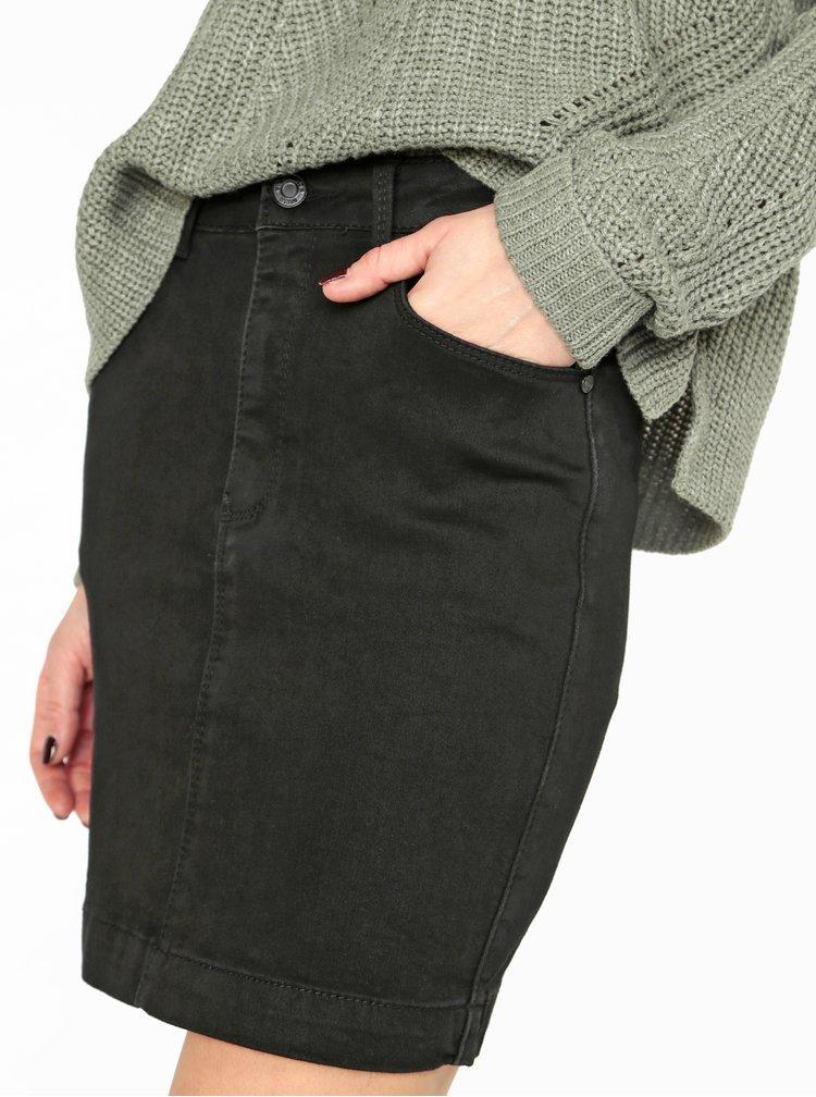 Černá džínová sukně MISSGUIDED
