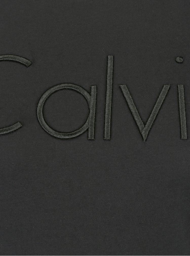 Černé dámské tričko s výšivkou Calvin Klein Jeans Tanya