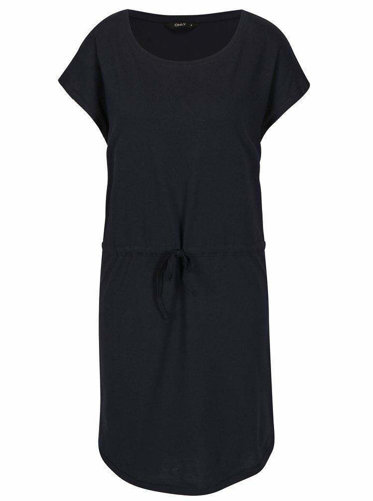 Tmavomodré šaty s krátkym rukávom ONLY May