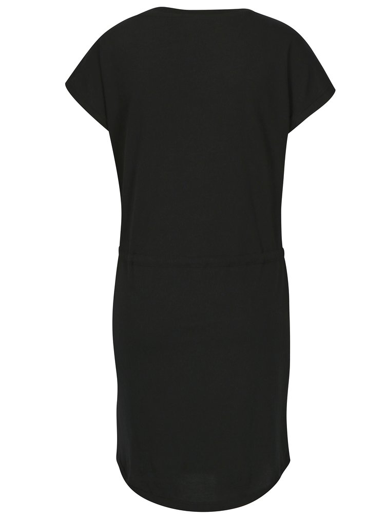 Rochie neagra cu snur in talie ONLY May