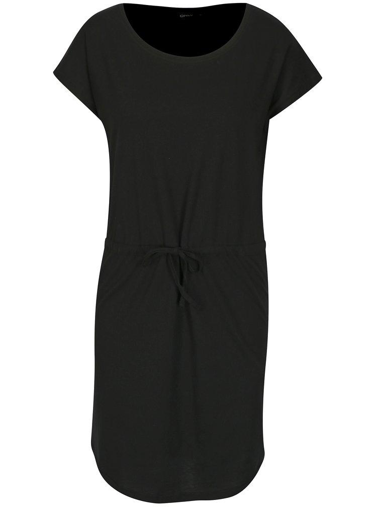 Černé šaty s krátkým rukávem ONLY May