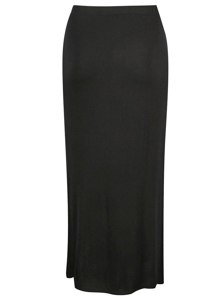 Černá maxi sukně s rozparky Dorothy Perkins Curve