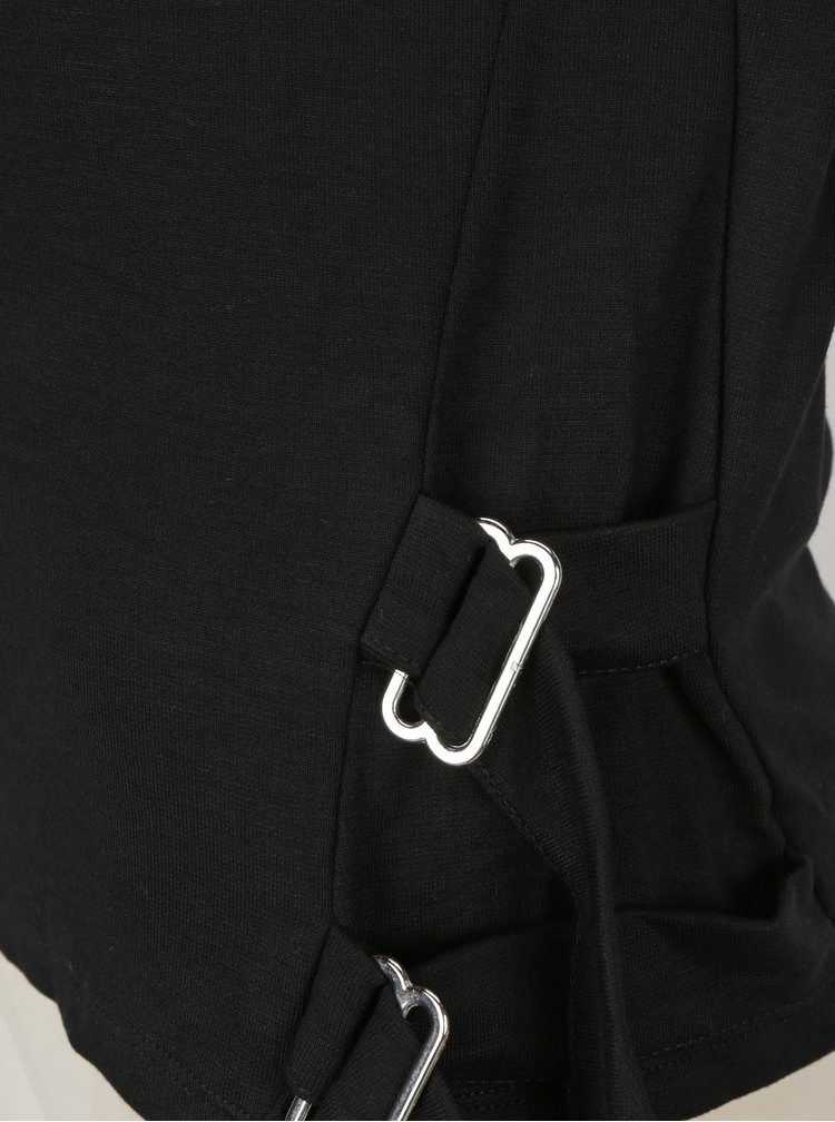 Bluza neagra cu detalii argintii laterale - TALLY WEiJL