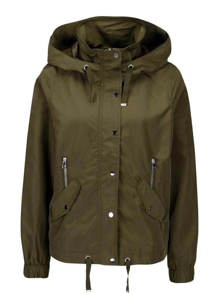 Khaki oversize bunda s kapucí VERO MODA Classy