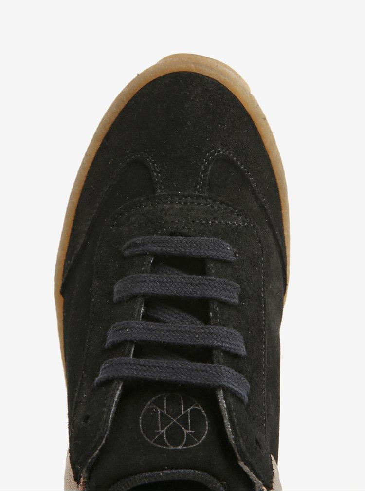 Černé semišové tenisky na platformě OJJU