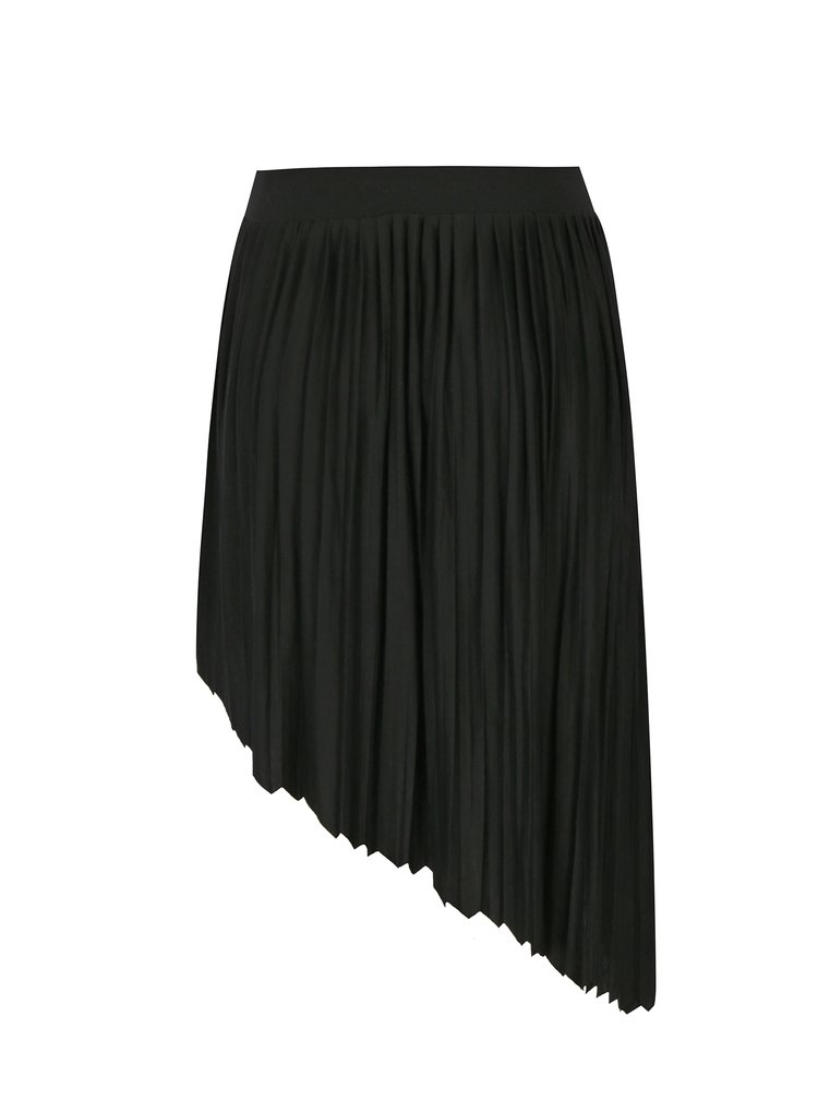 Černá asymetrická skládaná sukně Noisy May French