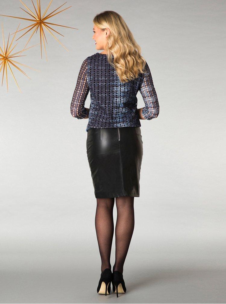 Černá koženková pouzdrová sukně Yest