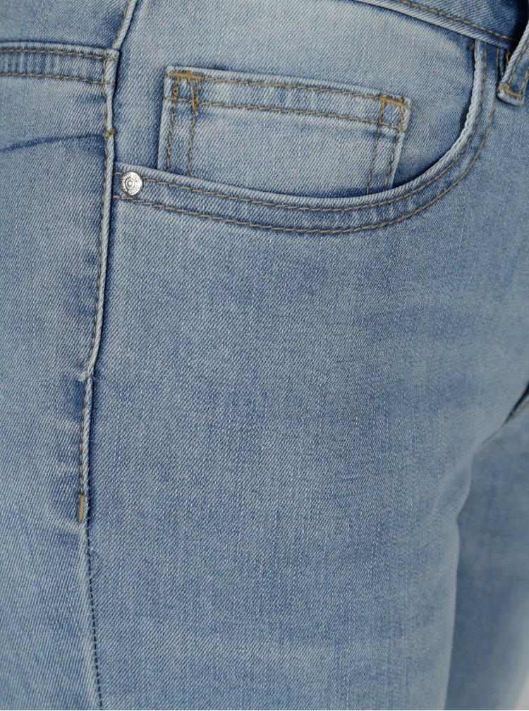 Světle modré straight džíny s volány ONLY New Sissi