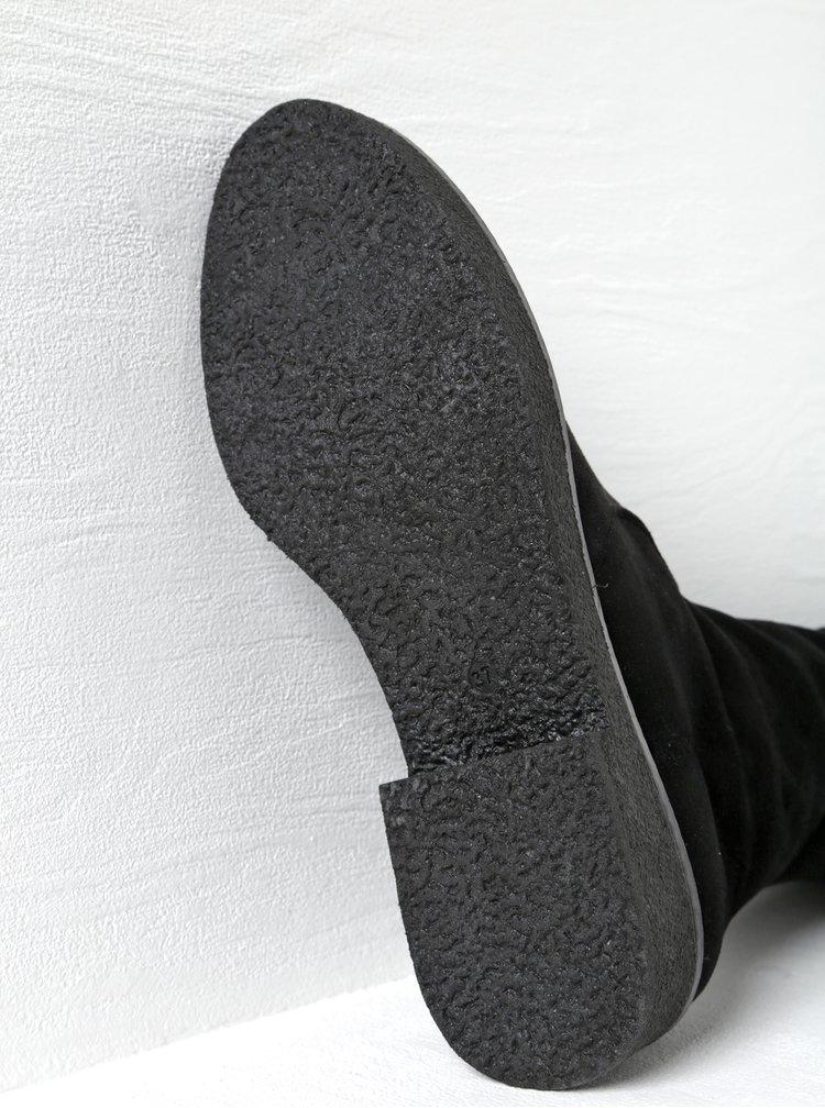 Cizme negre cu aspect de piele intoarsa - OJJU
