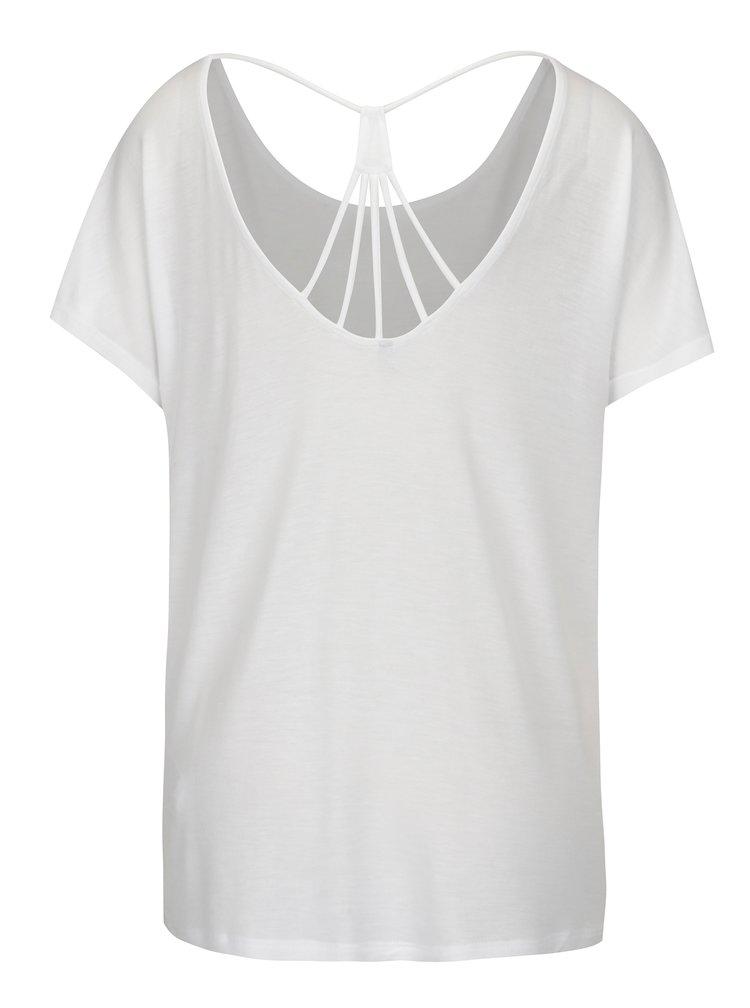 Tricou alb cu snur decorativ la spate - ONLY Carrie