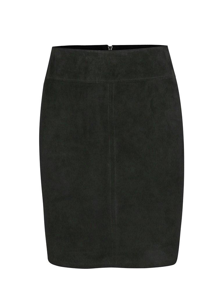 Černá semišová sukně VILA Miss
