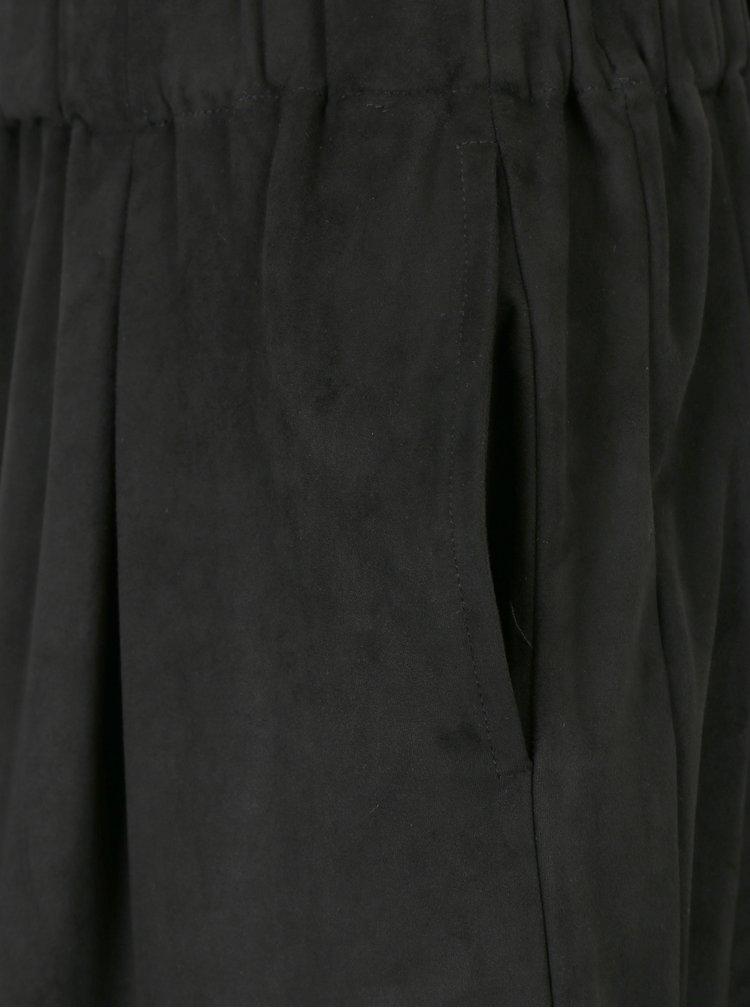 Černá sukně v semišové úpravě s.Oliver