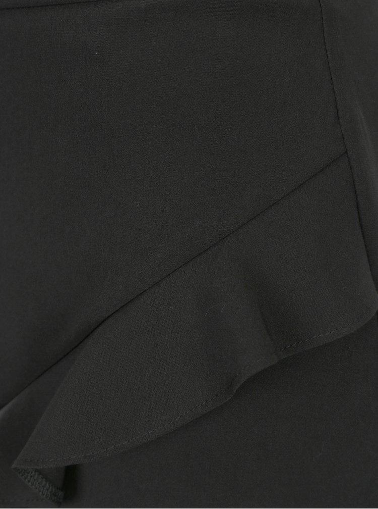 Černá sukně s volánkem Dorothy Perkins