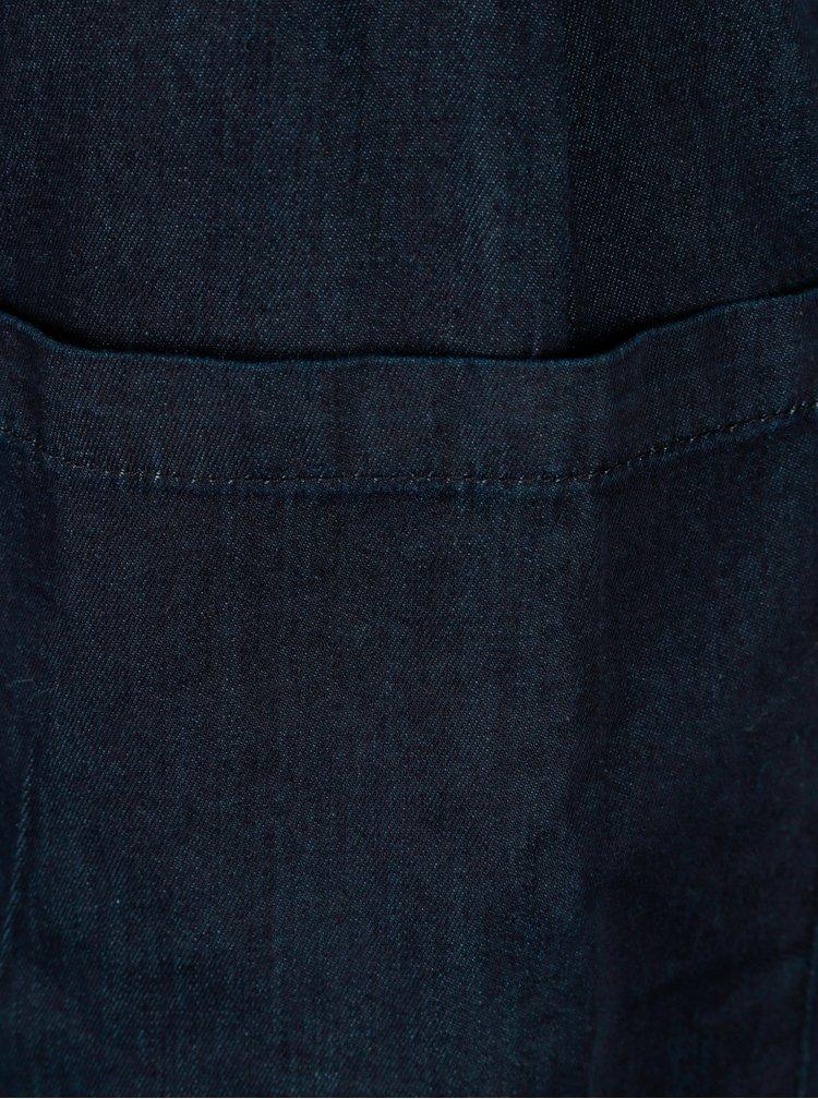 Tmavě modré džínové šaty s průstřihem na zádech Dorothy Perkins