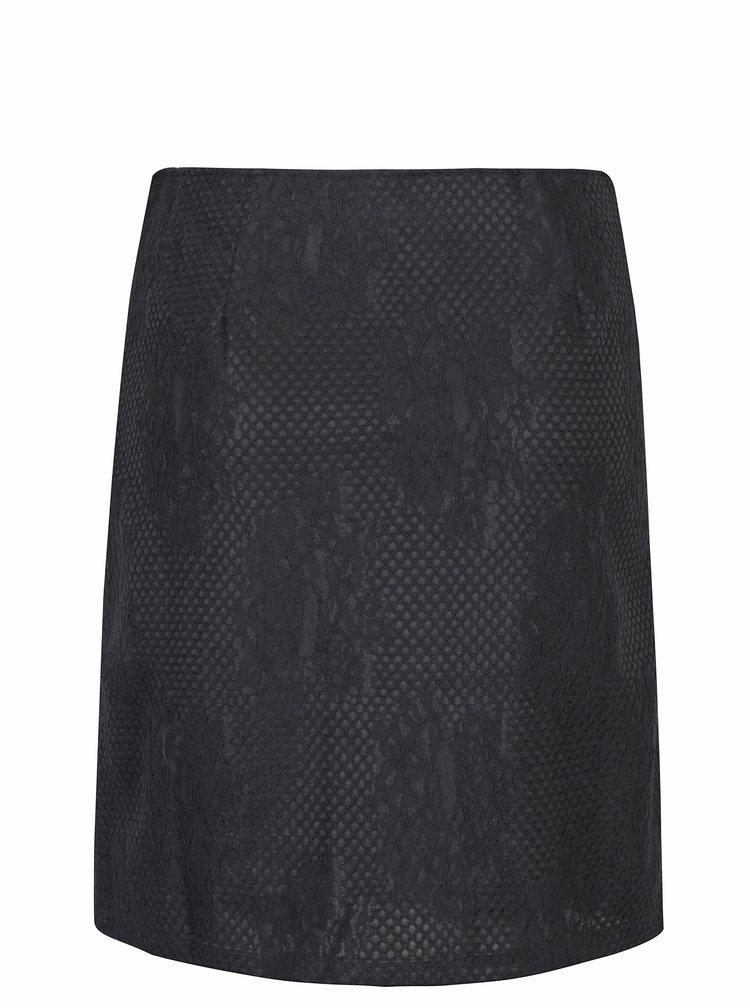Černá krajková sukně Smashed Lemon