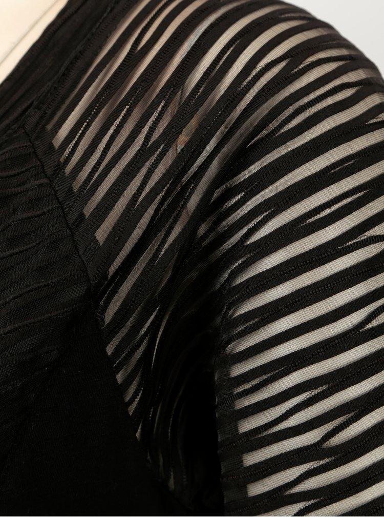 Rochie neagra cu insertii translucide si anchior - YEST