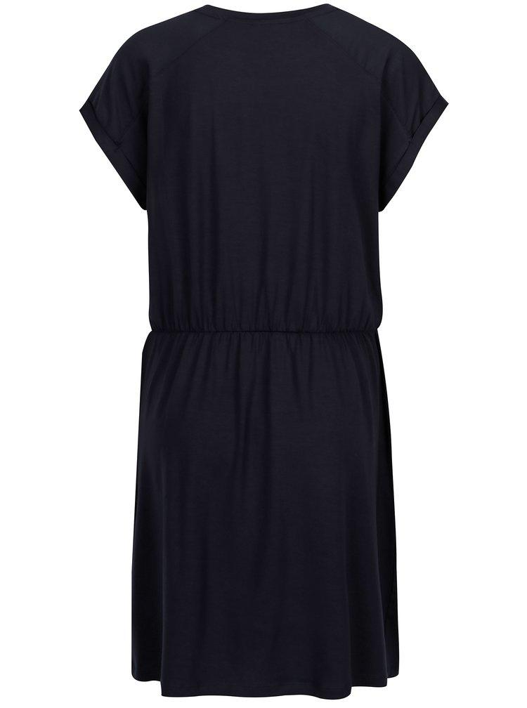Tmavě modré šaty s krátkým rukávem VERO MODA Ava