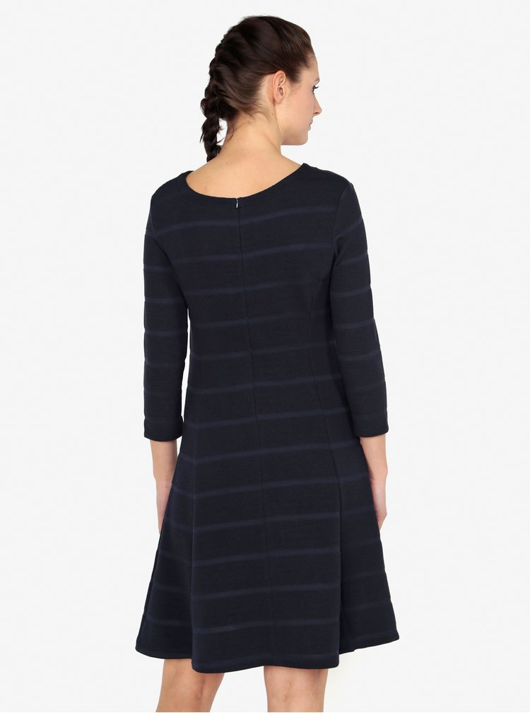 Tmavě modré pruhované šaty s 3/4 rukávem s.Oliver