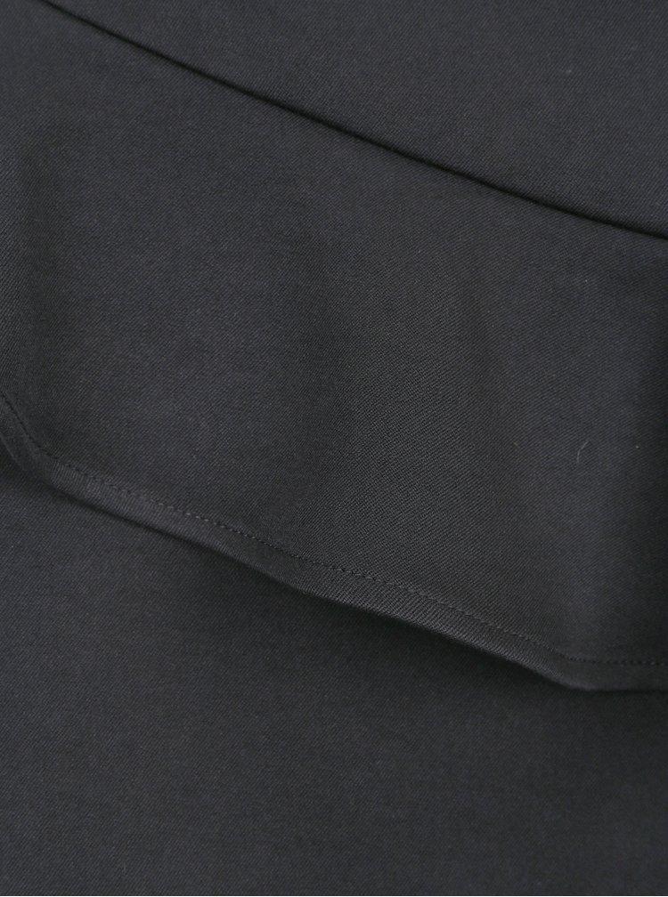 Černá pouzdrová sukně s volánem ONLY Kelly