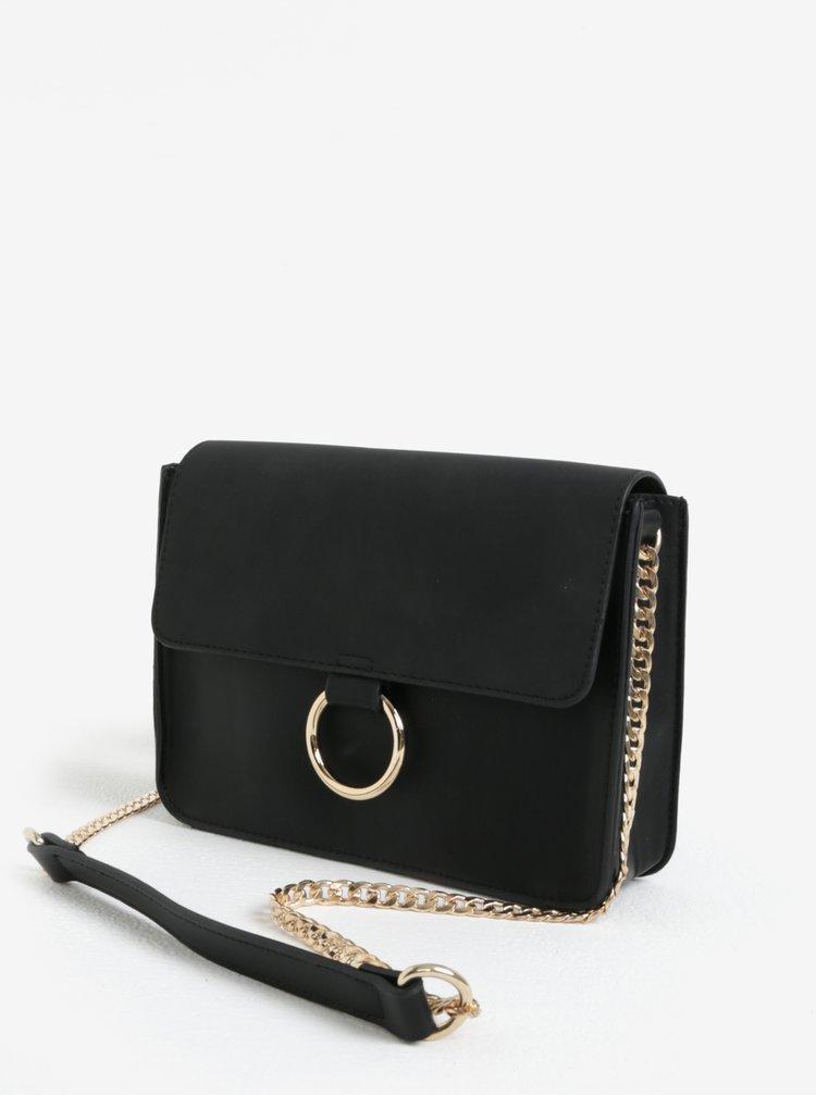 Černá koženková kabelka Pieces Gry