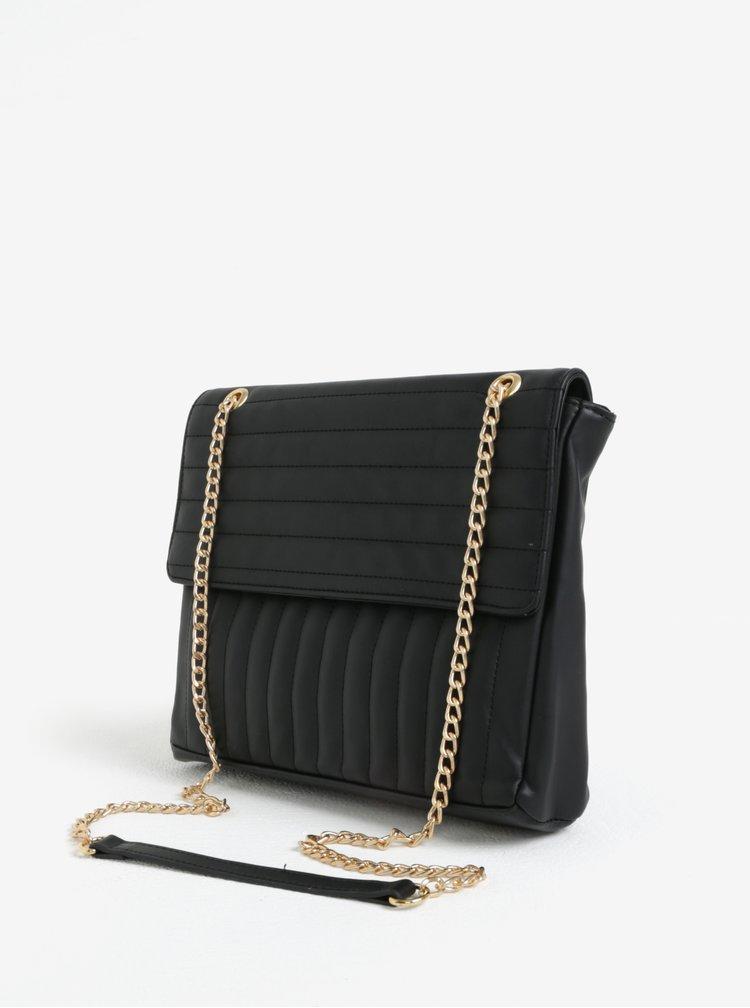 Černá prošívaná crossbody kabelka Pieces Gigi