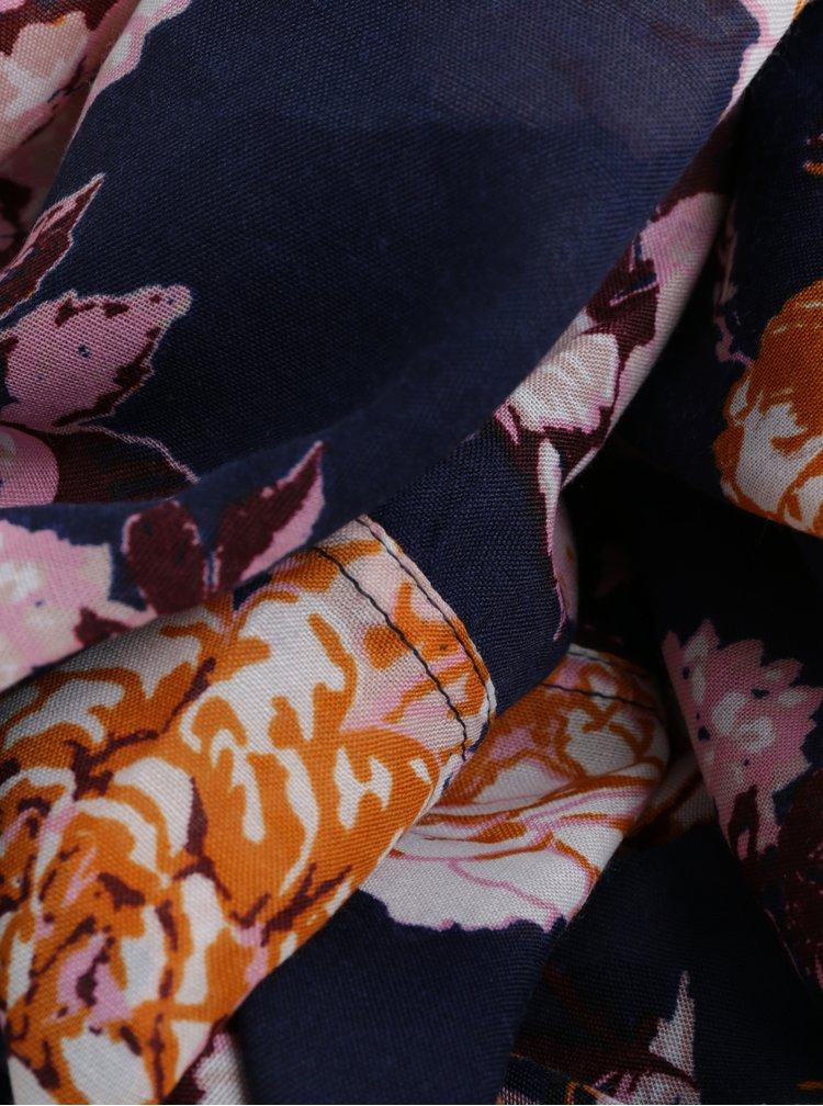 Esarfa circulara cu print floral Pieces Gista